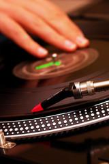 DJ scratching the vinyl record