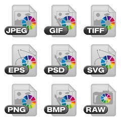 Icon-Set - image formats (isolated + clipping-lines) (01)