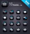 Black Squares - Shopping icons 01