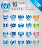 Glossy spheres - Media Icons 02