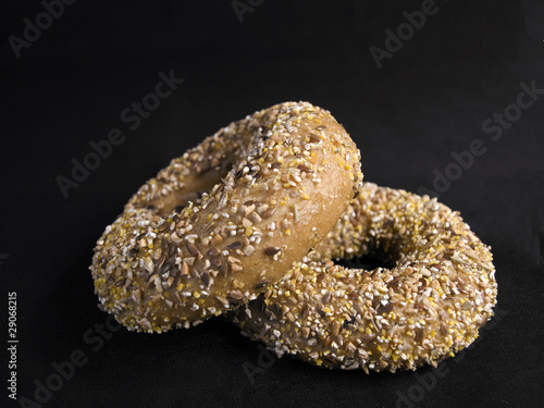 Two Flaxseed Bagels