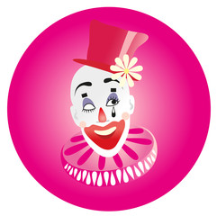 Vector illustration. Clown.