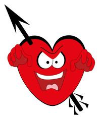 Vector illustration. Valentines heart.