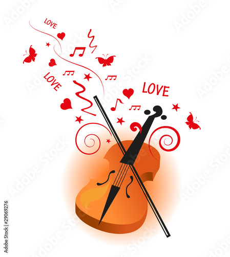 violin love background
