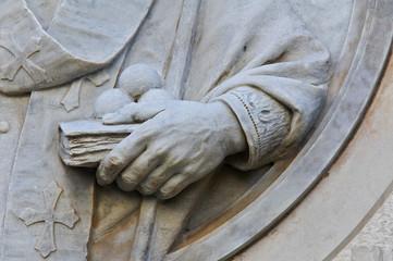 Detail of St. Nicola Statue.