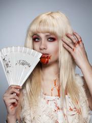 Vampire blond girl