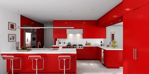 Kitchen in Red