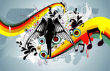 abstract angel color shape vector