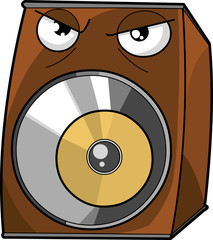 Angry speaker vector illustration