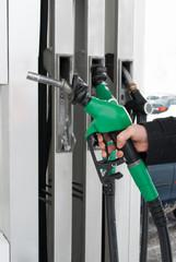 fuel nozzle in hand