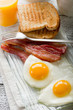 eggs with bacon-uova con bacon