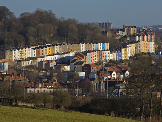 Bristol Skyline in Winter