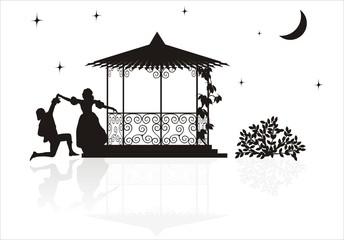 medieval arbor silhouette