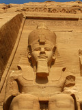 Awesome Temple of Pharaoh Ramses II in Abu Simbel, Egypt. poster