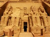 Awesome Temple of Pharaoh Ramses II in Abu Simbel, Egypt poster