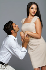 Sexy ethnic couple in love