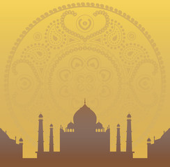 mandala and taj mahal wallpaper
