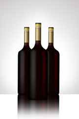 illustrated wine bottle.
