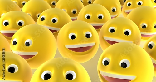 A crowd of smiling faces