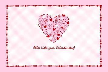 Postkarte Valentinstag