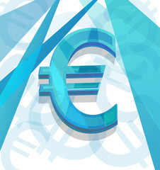 Blue euro