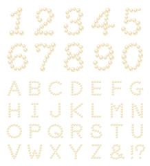 パール 数字 アルファベット