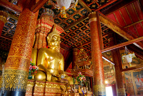 Four direction Golden Buddha Statue