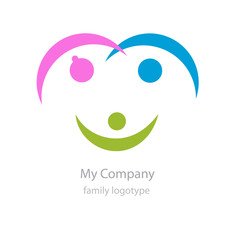 Logo adoptions. The family with smile # Vector