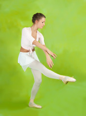 Female dancer in ballet shoes