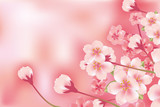 Abstract Luxury Cherry Blossom