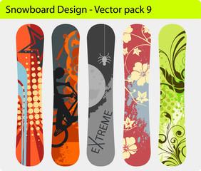 Snowboard design pack