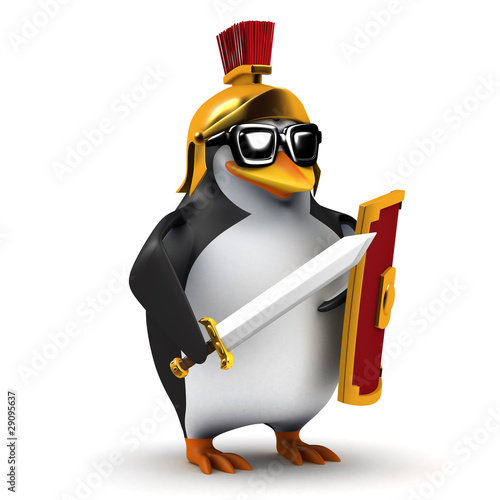 3d Gladiator penguin