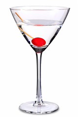 Sweet martini cocktail isolated on white with clipping path