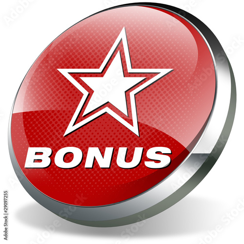 bonus button 3d metallic