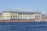 embankment of the river Neva, city Saint Petersburg, Russia poster