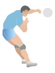 Volleyball. Vector
