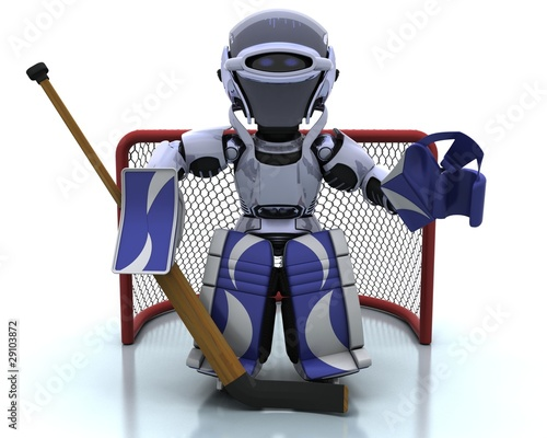 Robot playing icehockey