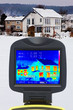 one-family houses and screen of thermal imaging camera