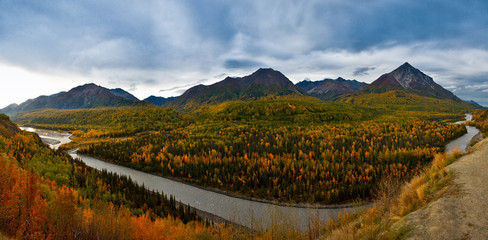 Alaska Yukon River Panorama