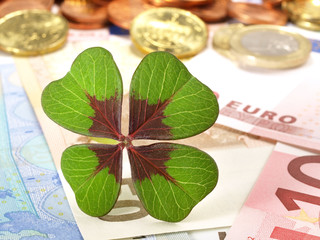 Geld - Glücksklee