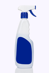 White spray cleaning bottle