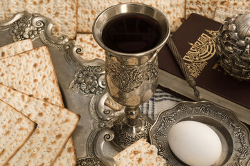 Matza bread for passover celebration