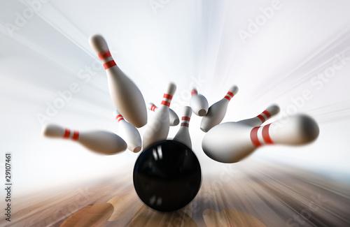 Leinwandbild Motiv bowling
