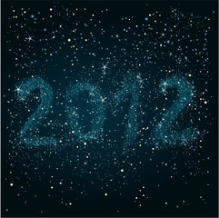 Night sky 2012 / Happy New Year greeting card.