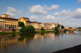 Bank of river Arno in Florence, Tuscany, Italy. poster