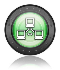 "Green Industrial Style Icon ""Network"""