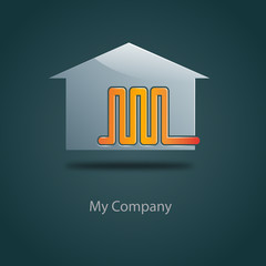Logo domestic heating # Vector