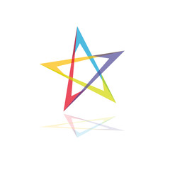 Logo colour star # Vector