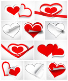 Collection of hearts. Vector illustration