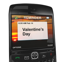 Smart phone reminder, Valentine's Day